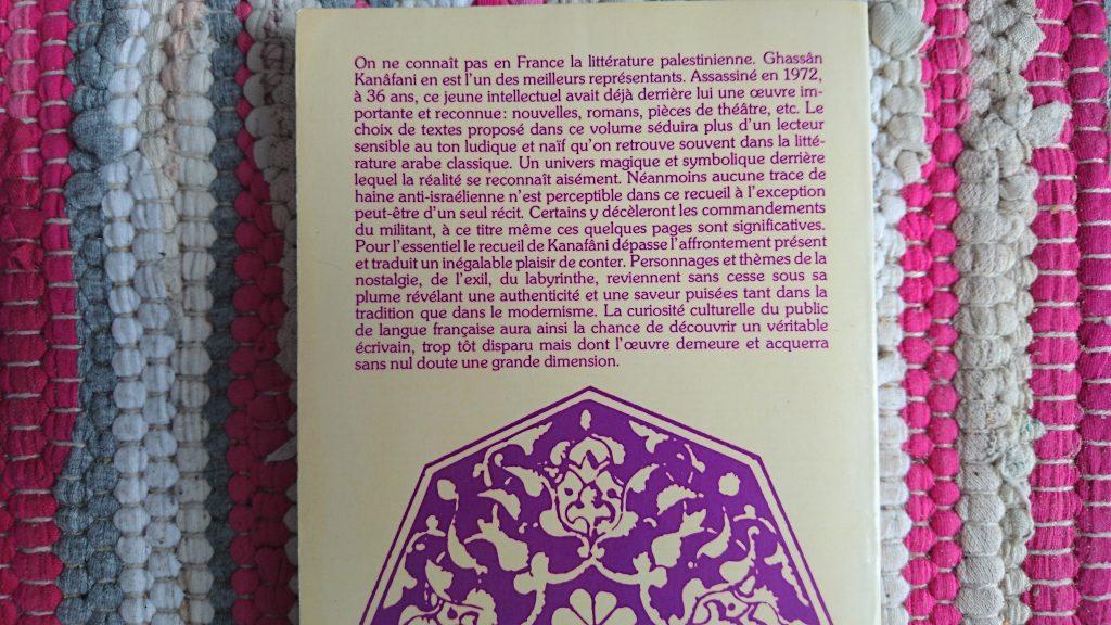 CONTES DE PALESTINE DE GHASSAN KANAFANI